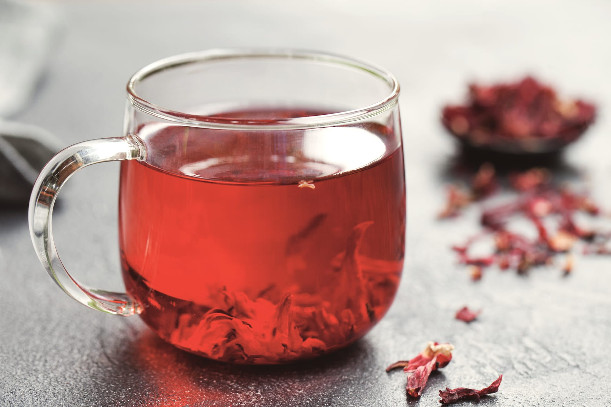 A cup of hibiscus tea, the perfect thirst quencher for Florida's temperatures